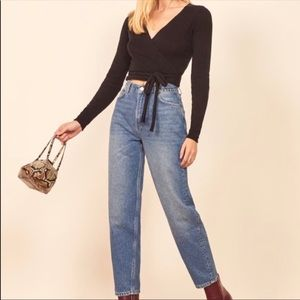 Reformation Kris Super High Rise Relaxed Jeans sz 26